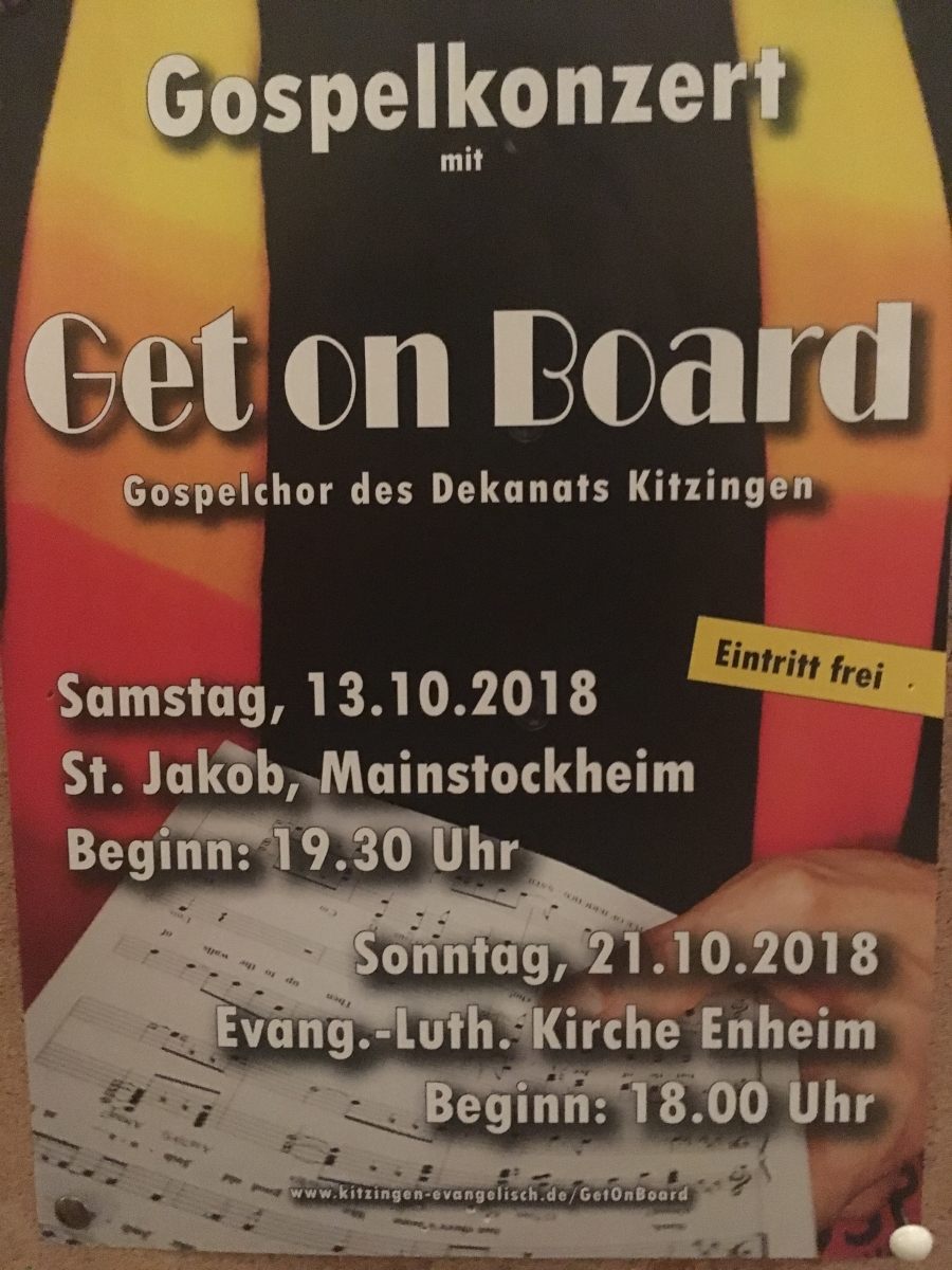 Get on board Gospelkonzert