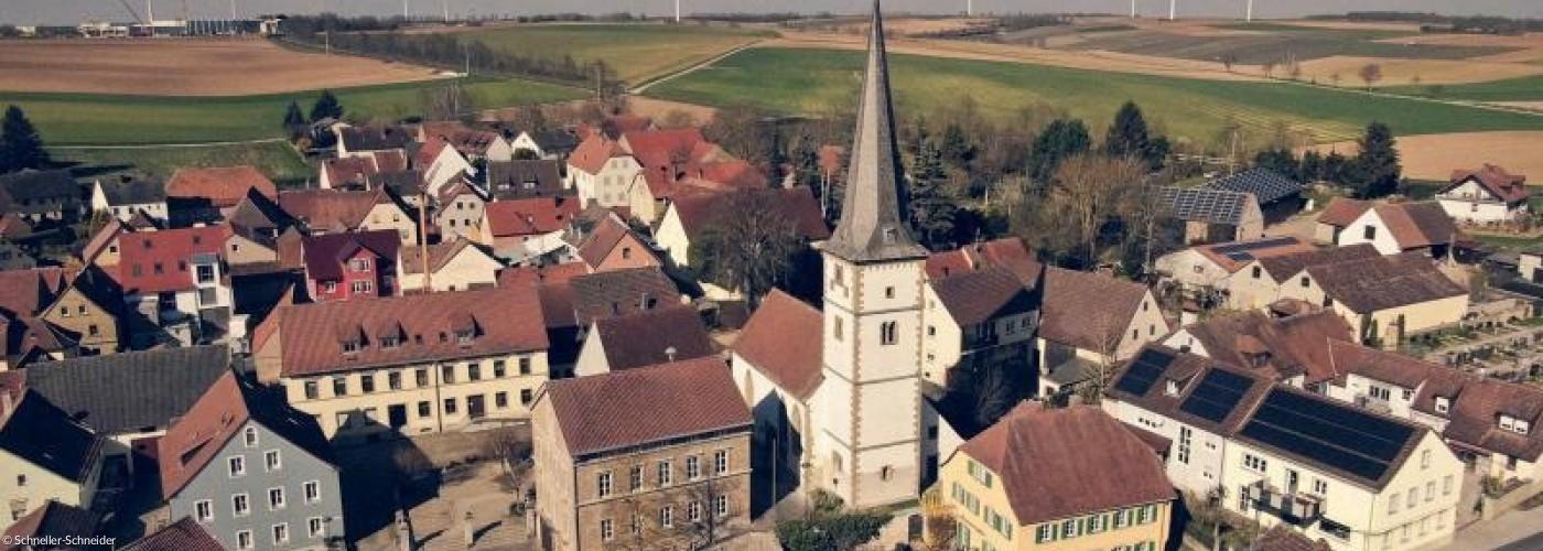 Buchbrunn von oben